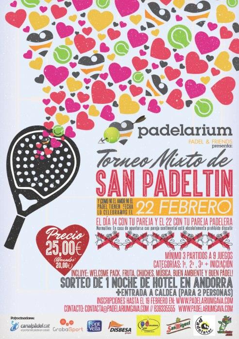 Torneo Mixto San Valentín en el Club Padelarium Gavà