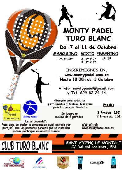 Torneo Monty padel en Turo Parc