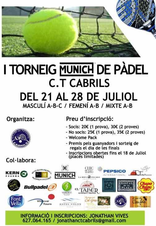 I Torneo Munich de padel en el CT Cabrils