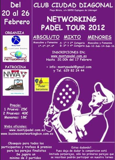 Torneo Networking Padel Tour en el Ciudad Diagonal