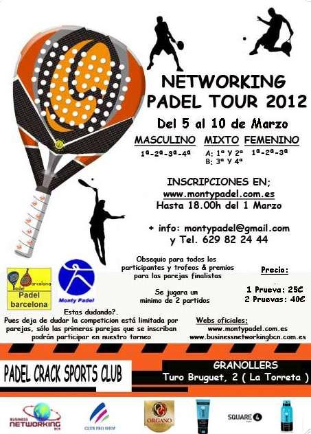 Torneo Networking padel tour 2012 - Crack de Granollers