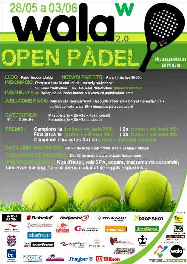 Torneo Open Indoor League. Ultima prueba.