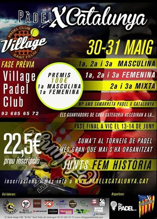 Torneo PadelXcatalunya en el Village padel Club