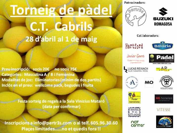 Torneo Padel CT Cabrils