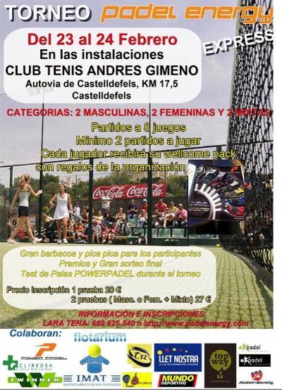 Torneo Padel Energy Express en el Andres Gimeno