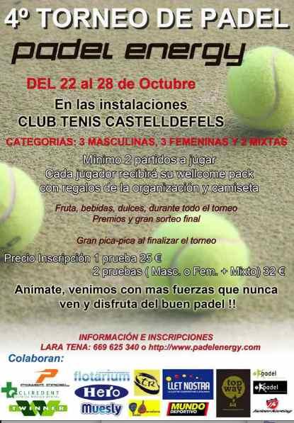 Torneo Padel Energy en Club de Tenis Castelldefelds