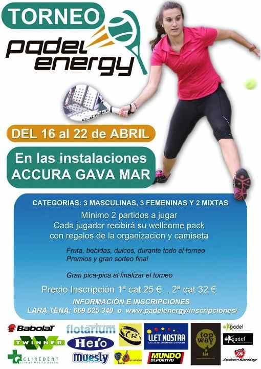Torneo Padel Energy en el Accura Gava Mar