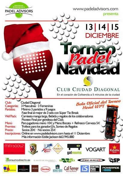 Torneo Padel Navidad en el Club Ciudad Diagonal