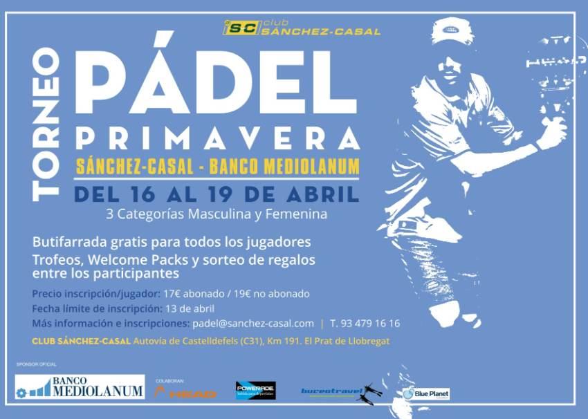 Torneo Pádel Primavera Sánchez-Casal Banco Mediolanum