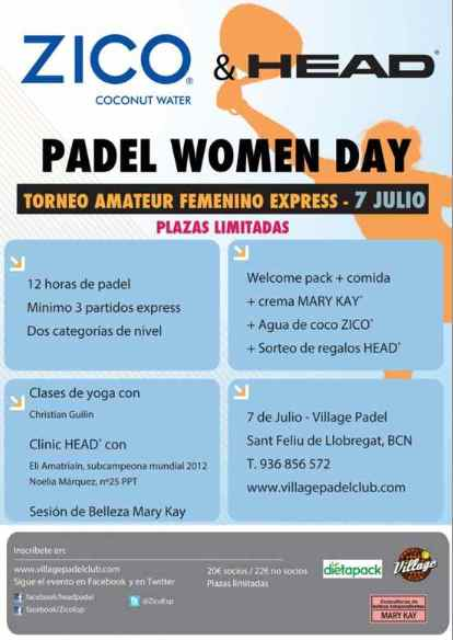 Torneo Padel Women Day 2012 en el Village
