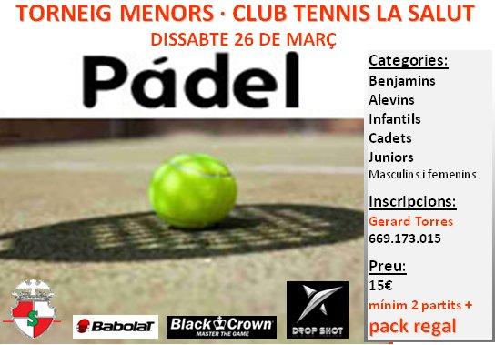 Torneo Pádel menores en el Club Tennis la Salut