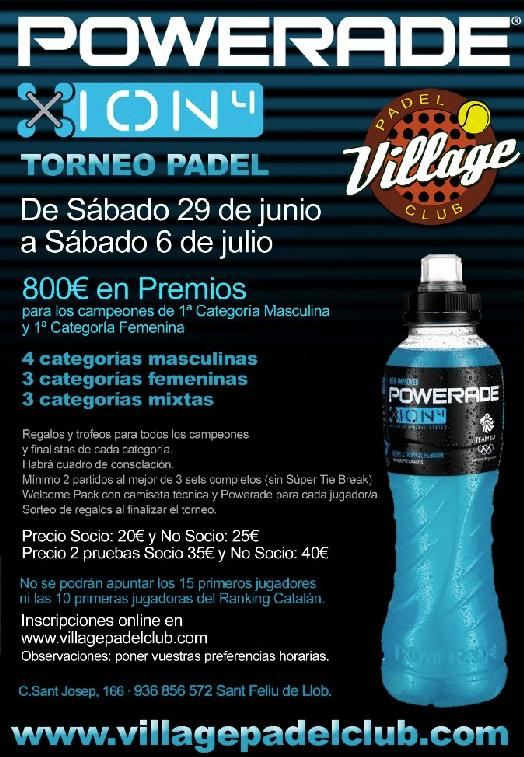 Torneo Powerade en el Village Padel Club
