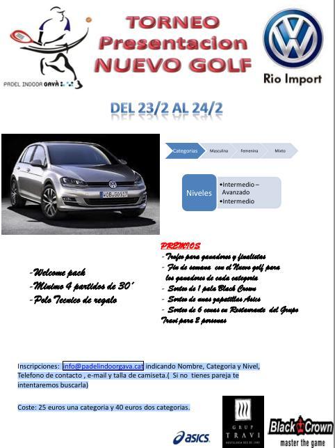 Torneo Presentacion Nuevo Golf en el Padel indoor Gava