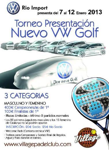 Torneo Presentacion Nuevo Volswagen Golf
