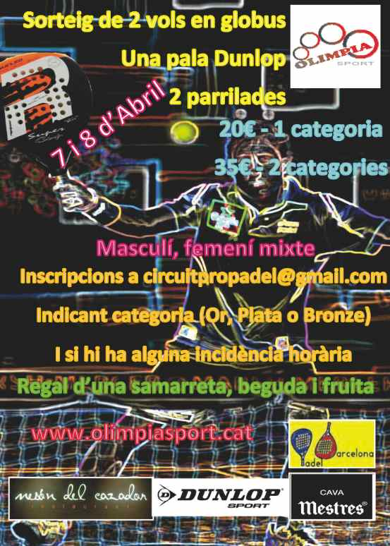 Torneo Semana Sante CircuitProPadel Igualada