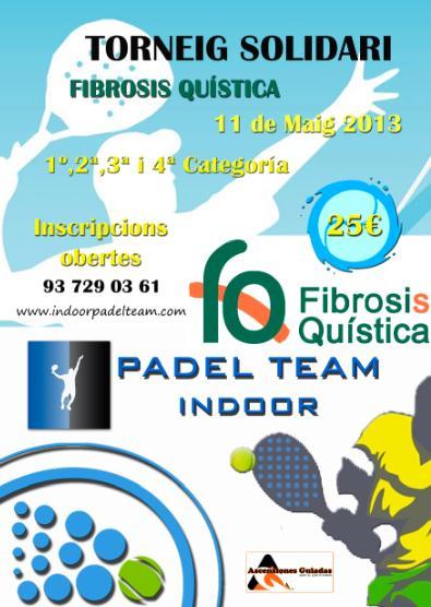Torneo Solidario Fibrosis Quistica en el Padel Team Indoor