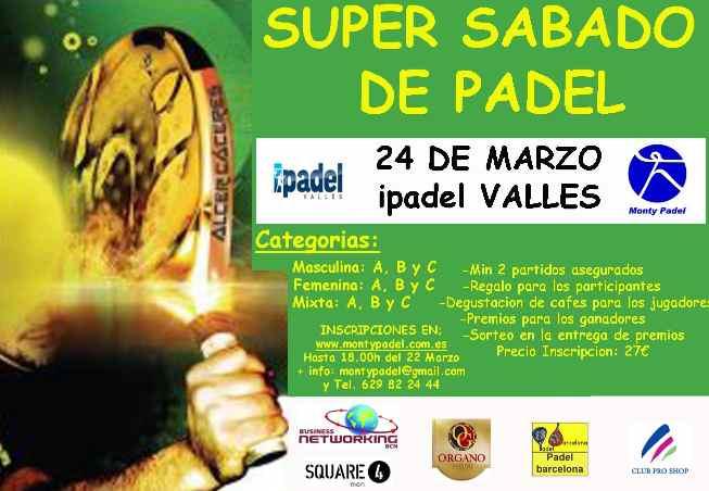 Torneo Super sábado de pádel en el iPadel