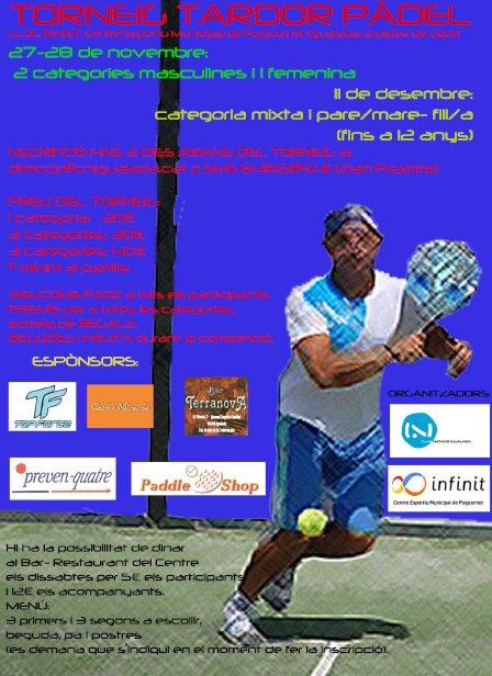 Torneo Tardor padel en el esportiu Puigcornet de Igualada