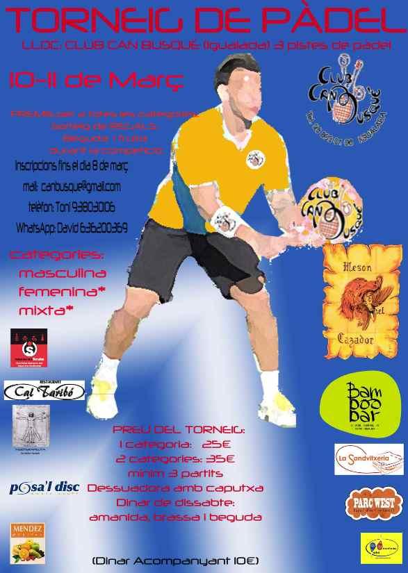 Torneo de padel Club Can Busque