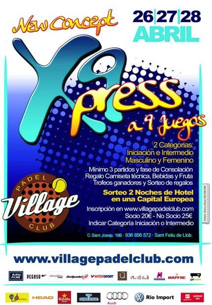 Torneo X9press a 9 juegos Village Padel Club