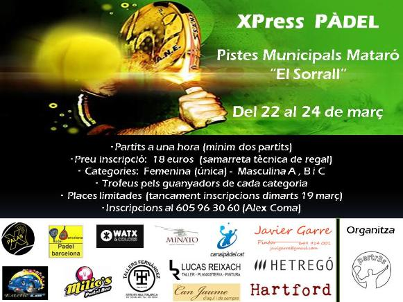 Torneo XPress Pádel en Mataro