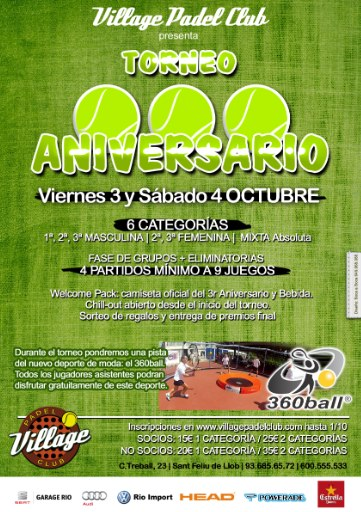 Torneo aniversario Village Padel Club