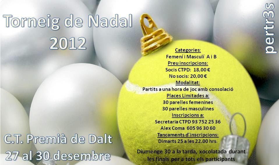 Torneo de Navidad 2012 en el CT Premia de Dalt