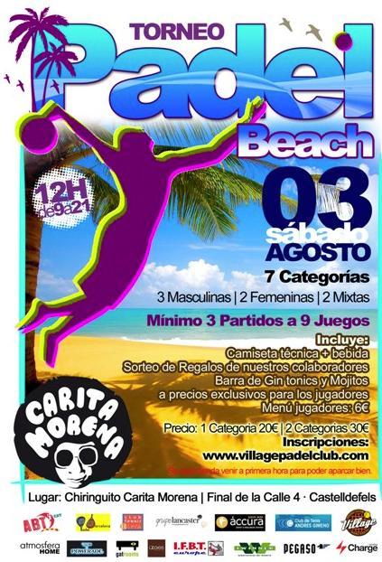 Torneo de Padel Beach Agosto 2013