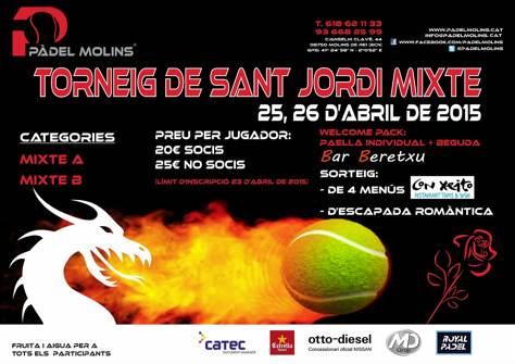 Torneo de Sant Jordi Mixto en el Padel Molins