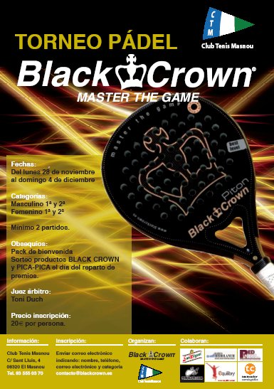 Torneo de pádel Black Crown Master the Game