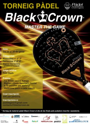 Torneo de padel Black Crown en el Club Egara