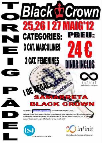 Torneo de padel Blackcrown en el C.N. Igualada