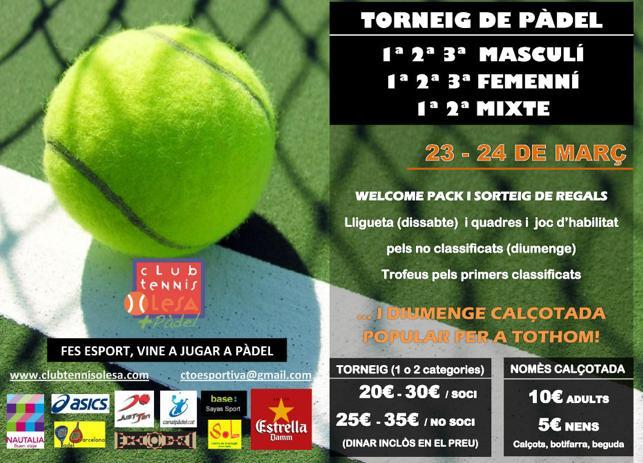 Torneo de pádel Club Tennis Olesa