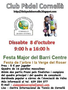 Torneo de padel Festa major Barri Centre Cornella