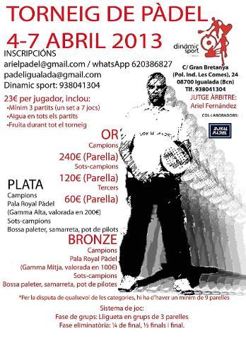Torneo de padel Gimnas Dinamic Sport de Igualada