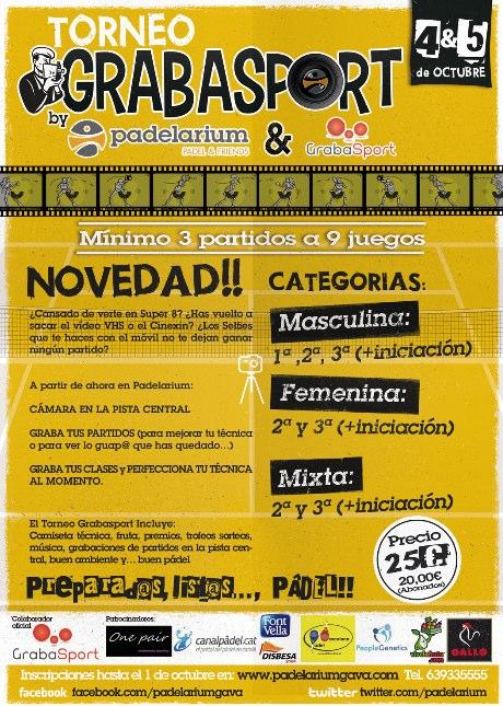 Torneo de padel Grabasport by padelarium
