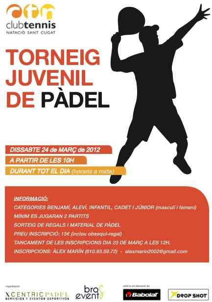 Torneo de padel Juvenil en el Club tennis Natació Sant Cugat