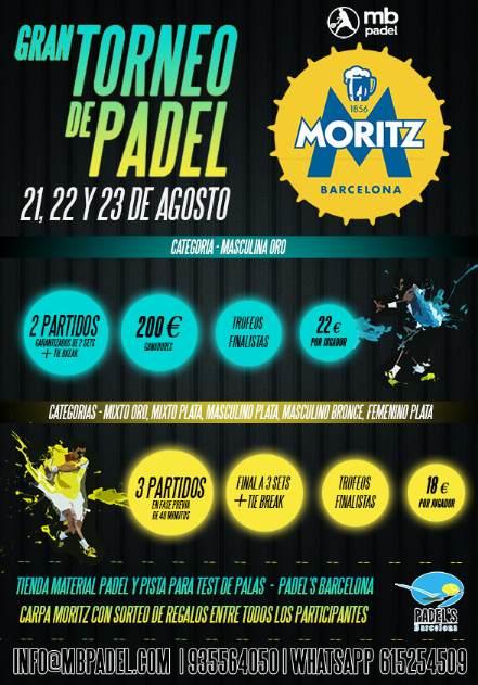 Torneo de pádel Moritz en MB Padel