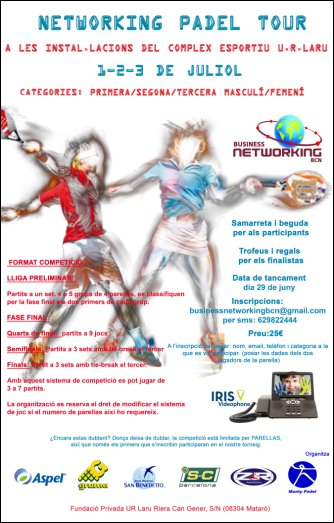 Torneo de padel Networking esportiu ur laru