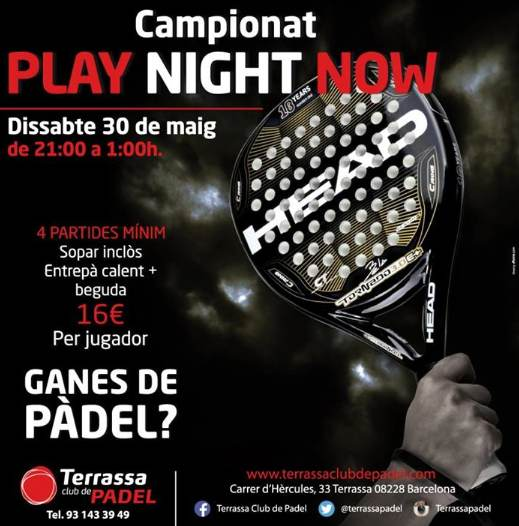 Torneo de pádel Play Night Now