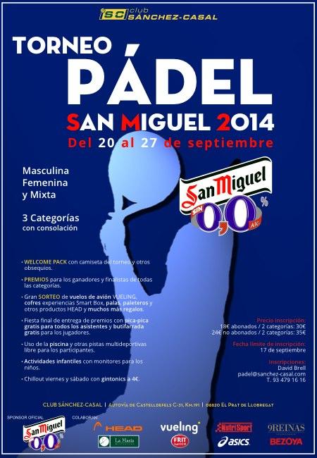 Torneo de pádel San Miguel en el Sánchez Casal
