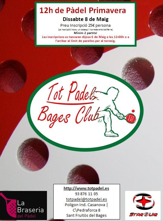 Torneo de pádel primavera en el Tot Padel Bages club