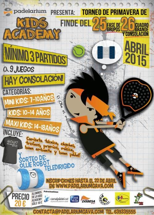Torneo de primavera Kids Academy en Padelarium Gavà