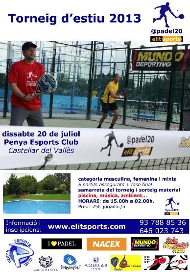 Torneo de verano 2013 padel20