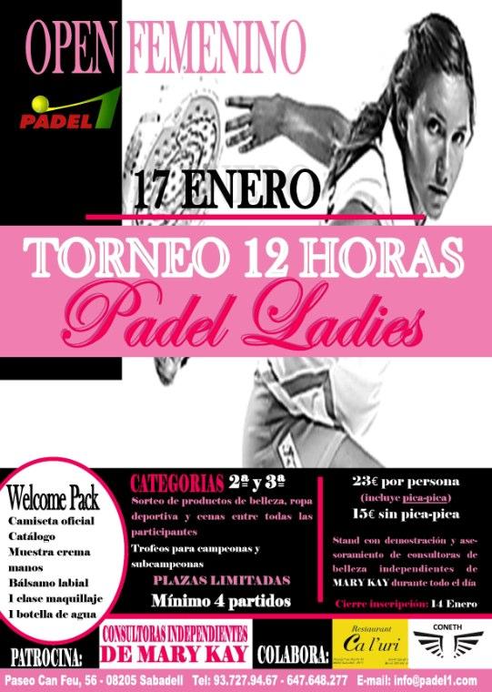 Torneo femenino - padel ladies en Padel 1 de Sabadell