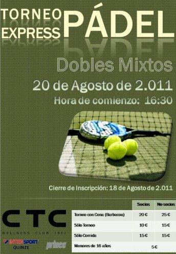 Torneo padel Express Mixto