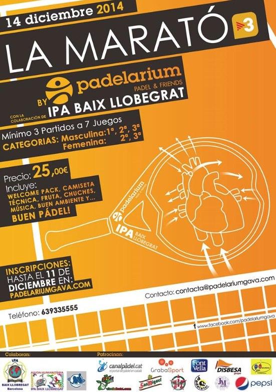 Torneo por La marató en el Padelarium Gavà