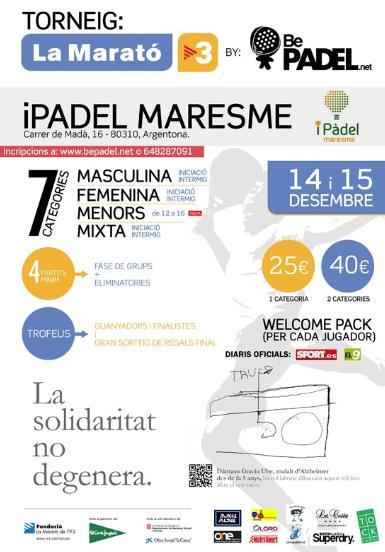 Torneo por la Marató de TV3 by Bepadel