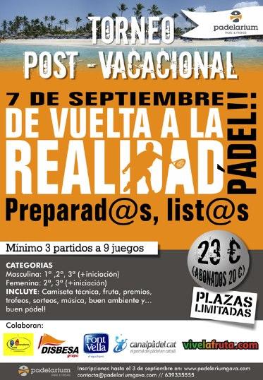 Torneo post vacacional Padelarium