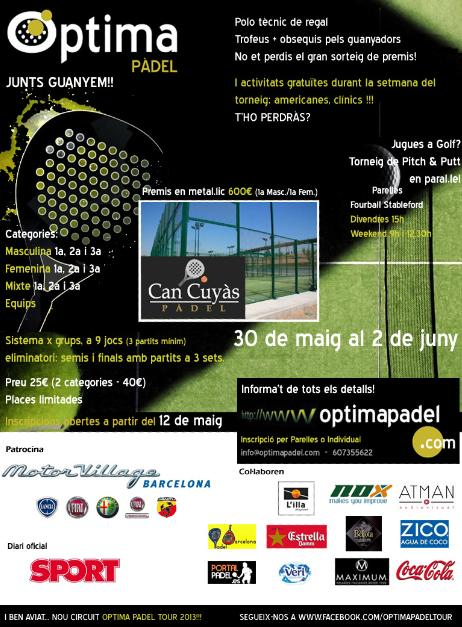 Torneo presentación Optima Padel Tour